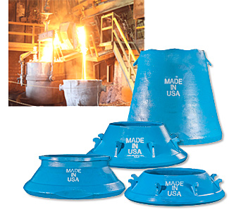 Manganese steel casting developed in a quality conntrolled environment