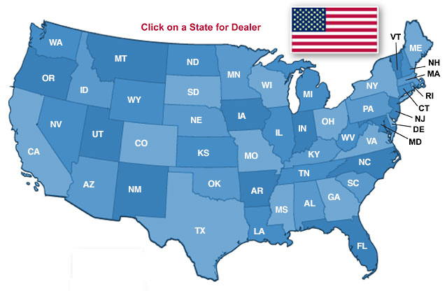 Frog Switch United States Dealer Locator Map